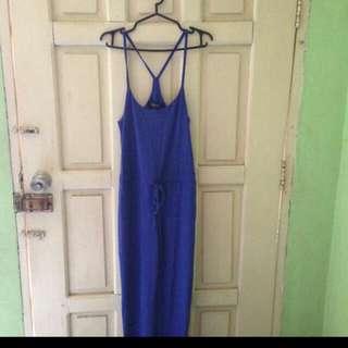 Cobalt Blue Drawstring Jumpsuit