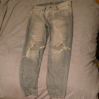 Destroyed Light Wash Hollister Jeans