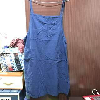 中大尺碼XL 連身顯瘦吊帶裙