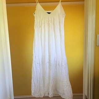 Sportsgirl. White Sundress.