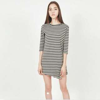 Modparade Asymmetric Stripes Dress