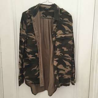 Bardot Oversized Camo Jacket