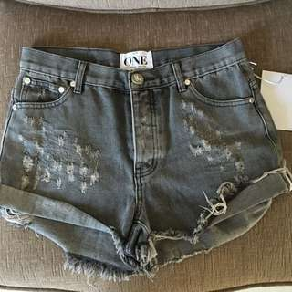 NEW One Teaspoon Hawks Shorts High Rise Relaxed Fit