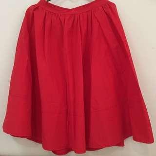 Simple Big Red Skirt