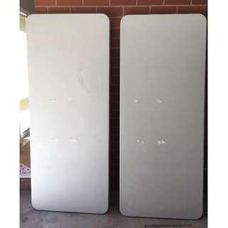 Trestle foldable tables