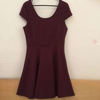 Burgundy Dress Size S