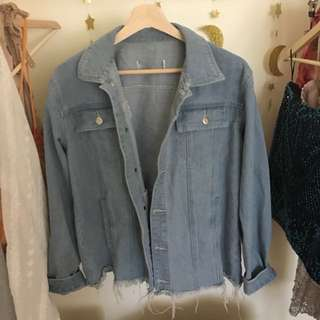 Vintage Feel Oversized Denim Jacket