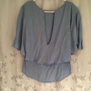 Asos Pastel Blue Batwing Blouse