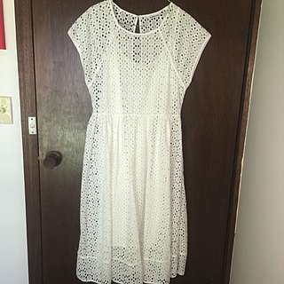 COUNTRY ROAD Broderie Waisted Dress