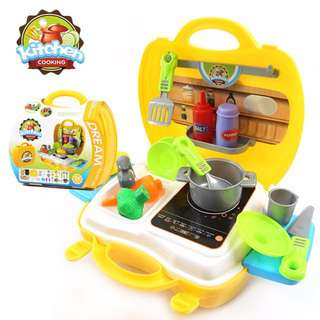 Yellow Kitchen Cooking Suitcase Toy