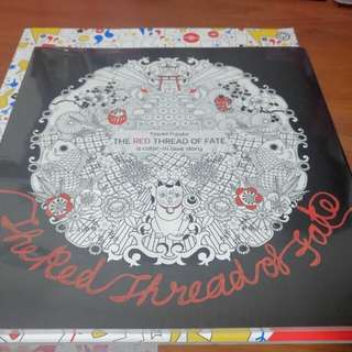 Japanese Coloring Book : The Red Thread Of Fate