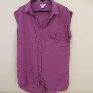 Purple Sleeveless Shirt