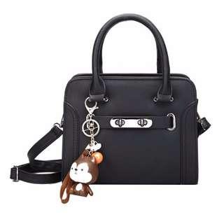 NS7746 Black, Pink - Tas Kantor, Tas Pesta - Hand Bag, Tas Selempang - Tas Wanita Murah - Tas Import