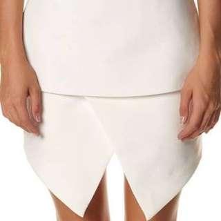 Cameo White Assymetrical Skirt Size Medium