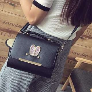 NS7748 Black, Pink - Tas Kantor, Tas Pesta - Hand Bag, Tas Selempang - Tas Wanita Murah - Tas Import