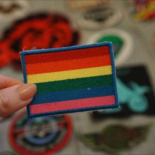 Gay Pride Flag Iron On Patch