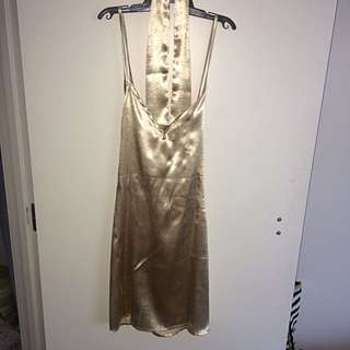 Peppermayo Golden Slip Dress
