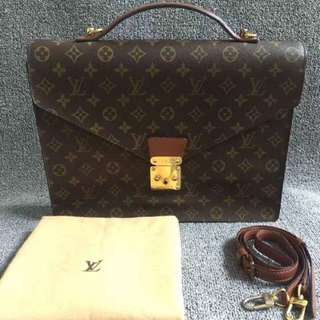 Authentic Lv Briefcase Large