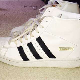 adidas Originals Superstar UP W White Black Womens Wedges Shoes Sneakers