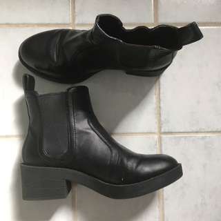 Lipstick Black Ankle Boot