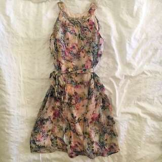 FOREVER NEW FLORAL CHIFFON DRESS SIZE 4