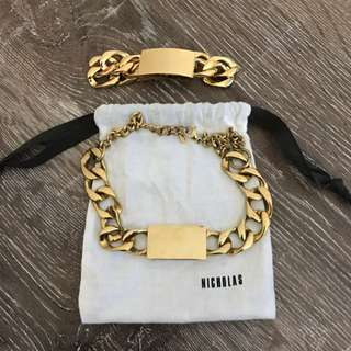 Nicholas Yellow Gold Bracelet & Necklace