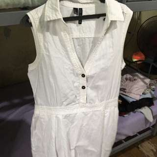 mango dress white pure cotton