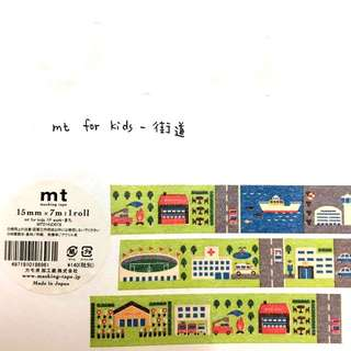 (050)紙膠帶分裝-mt for kids-街道