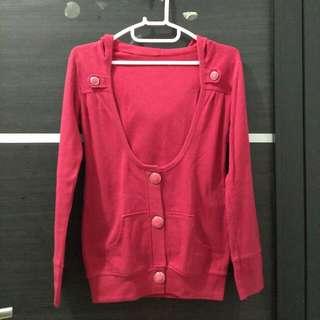 Jaket/Cardigan Merah