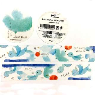 (051)紙膠帶分裝-小徑x涼丰-晴空青鳥