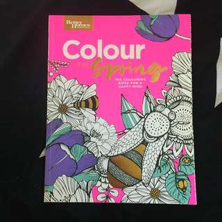 Colour Spring Colouring-In Book