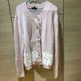 Tout a coup 粉紅色冷外套 Cardigan 購自IT 100% Real And New
