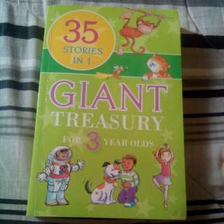 35 Stories In 1 Giant Treasury For 3 Year Olds