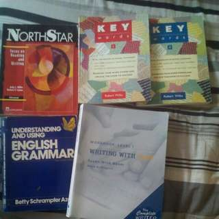 Book set English Grammar, Writing, Reading And Vocabulary All For 50