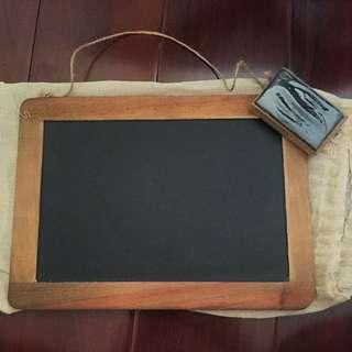 Mini Blackboard With Eraser