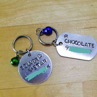 Hand-stamped Dog/cat Tag