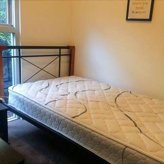 King single Bed Frame And Mattress (used For Only 8 Months)