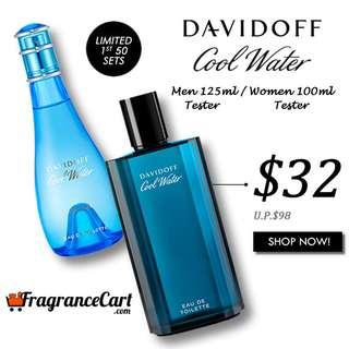 🎉SALE🎉Davidoff Cool Water EDT for Men and Women Tester