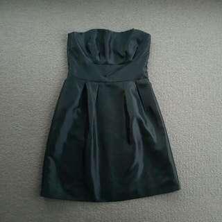 Black Matte Sheen Prom Dress