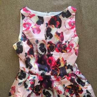 STUNNING Thick Satin Floral Dress