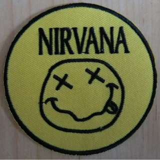 Nirvana Patch Cloth Patch Iron On Patch Grunge Band Smiley Face