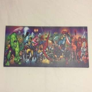 MAKE AN OFFER: Marvel Superhero Canvas