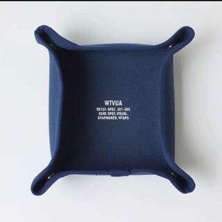 WTAPS 西山徹 海軍藍 帆布首飾盒 零錢盤 鑰匙托盤 汽車收納盤