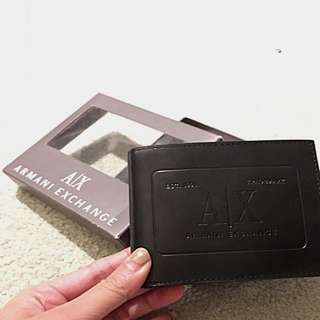 Brand New With Box Armani Exchange Real Leather Wallet