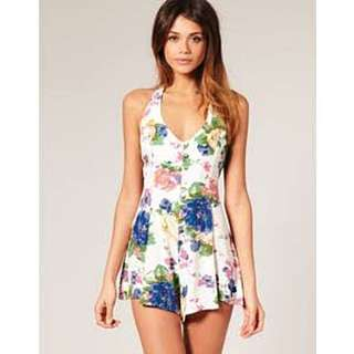 Motel Rocks Pretty Rose Gypsy Playsuit