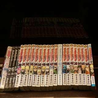 總共23本  美食獵人×1 少年突破馬神×3 火影忍者×19(還有一本日本版本的)