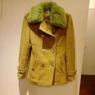 羊毛合身外套(領子可拆喔)