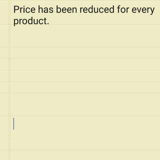Massive Price Reduction