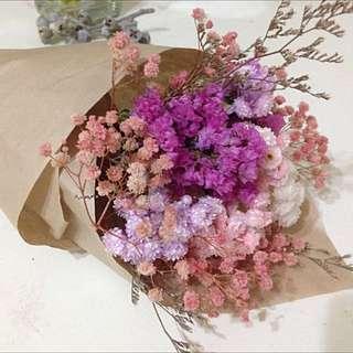 粉色系乾燥花束