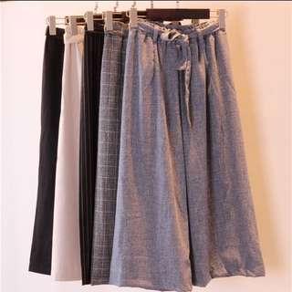 INSTOCK BNIP Grey Culottes Pants